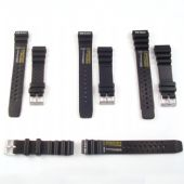 Black Rubber Pilots/Sailing Watch Strap Four Sizes